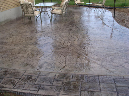 ogden decorative concrete patio